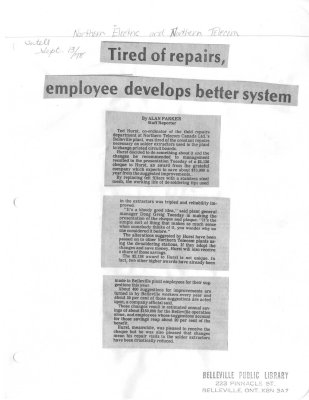 Tired of repairs, employee develops better system