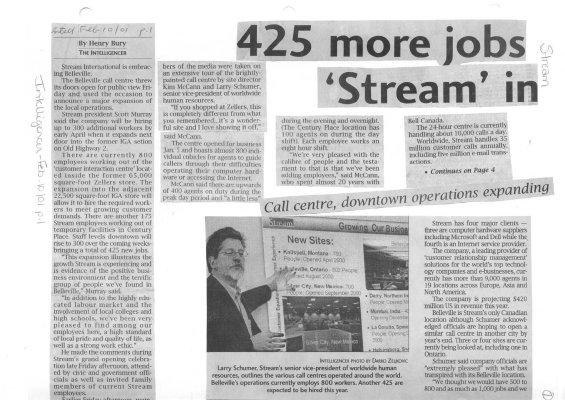 425 more jobs 'Stream' in