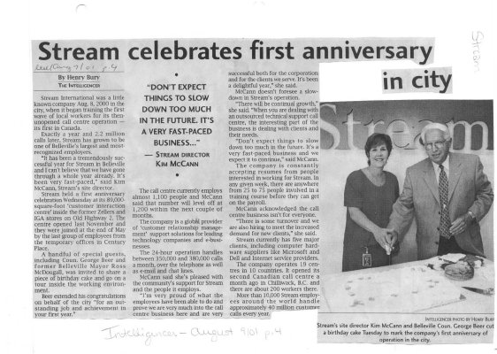 Stream celebrates first anniversary in city