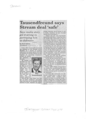 Tausendfreund says Stream deal 'safe'