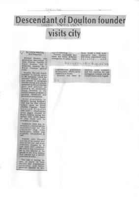Descendant of Doulton founder visits city