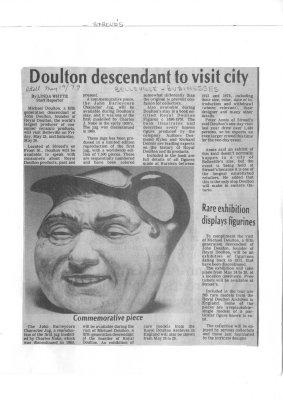 Doulton descendant to visit city