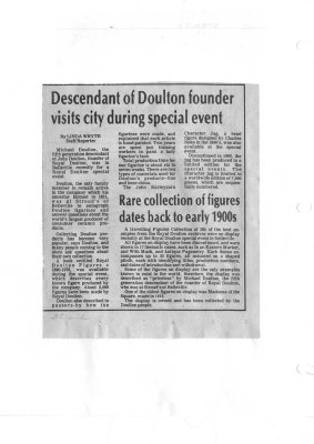 Descendant of Doulton founder visits city during special event