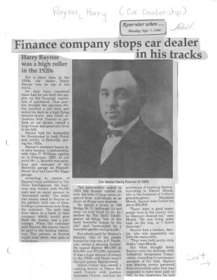 Remember When: Finance company stops car dealer in his tracks