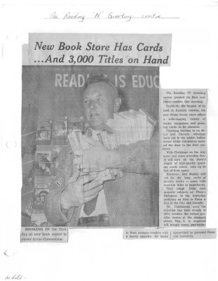 New book store has cards... and 3,000 titles on hand