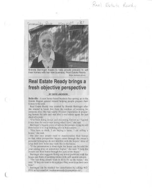 Real Estate Ready brings a fresh objective perspective