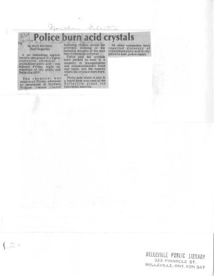 Police burn acid crystals