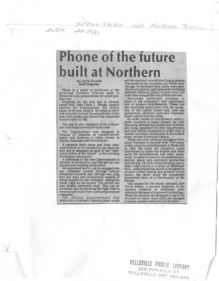 Phone of the future built at Northern