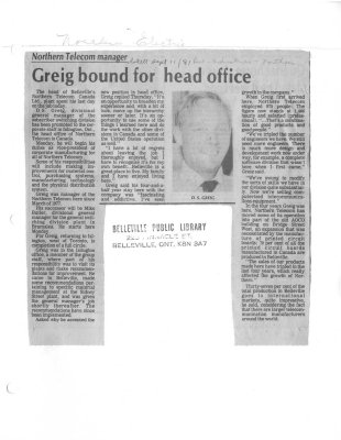 Greig bound for head office