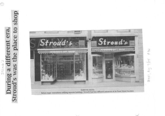 During a different era, Stroud's was the place to shop