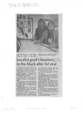 Loyalist grad's business in the black after 1st year