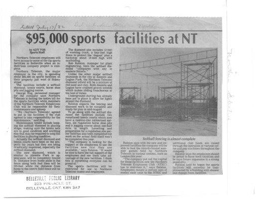 $95,000 sports facilities at NT
