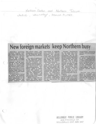 New foreign markets keep Northern busy