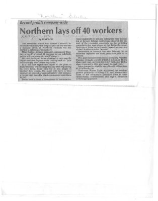 Northern lays off 40 workers