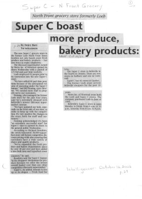 Super C boast more produce bakery products