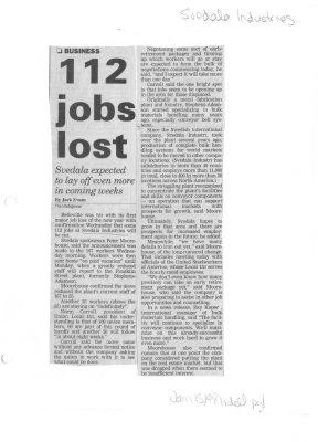 112 jobs lost
