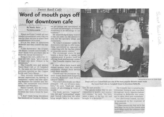 Word of mouth pays off for downtown cafe