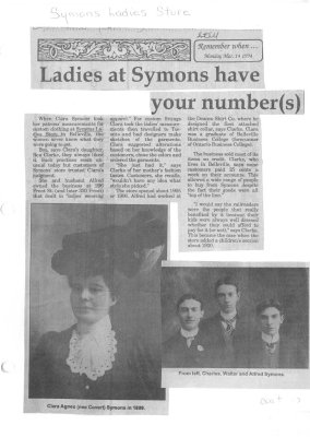 Ladies at Symons have your numbers