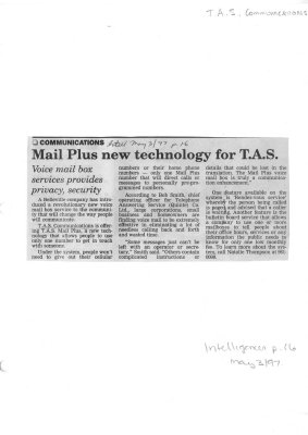 Mail Plus new technology for T.A.S.