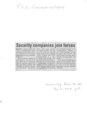 Security companies join forces