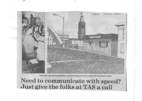 Need to communicate with speed? Just give the folks at TAS a call