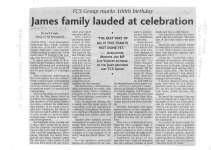 James family lauded at celebration