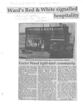 Remeber When: Ward's Red & White signalled hospitality