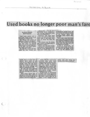 Used books no longer poor man's fare