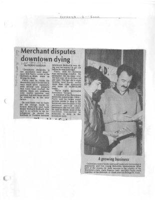 Merchant disputes downtown dying