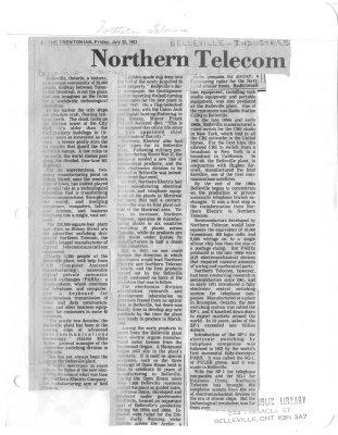 Northern Telecom vital in