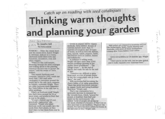 Thinking warm thoughts and planning your garden