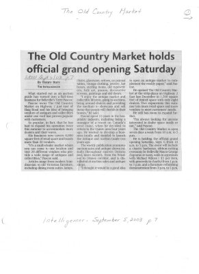The Old Country Market holds official grand opening Saturday