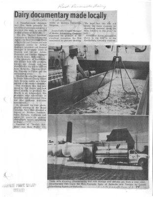 Dairy documentary made locally