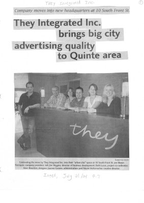 They Integrated Inc. brings big city advertising quality to Quinte area