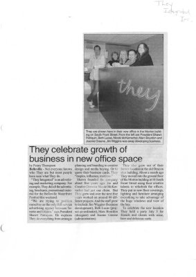 They celebrate growth of business in new office space