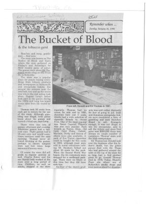 Remember When: The Bucket of Blood and the tobacco gent