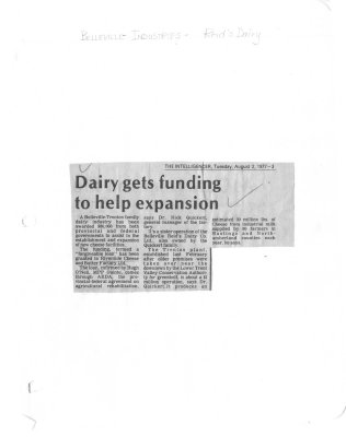 Dairy gets funding to help expansion