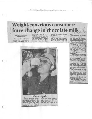 Weight-conscious consumers force change in chocolate milk