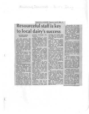 Resourceful staff is key to local dairy's success