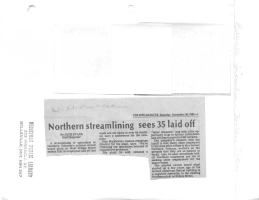 Northern streamlining sees 35 laid off