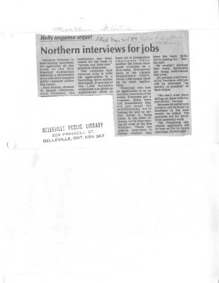 Northern interviews for jobs