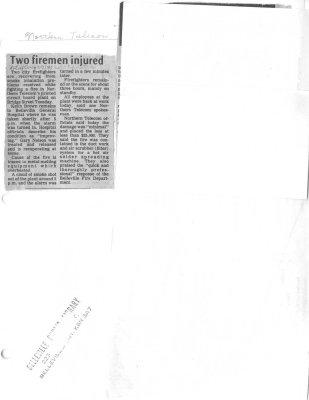 Two firemen injured