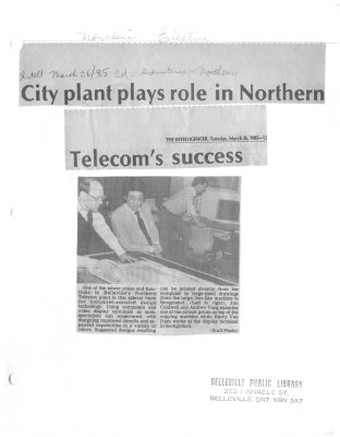 City plant plays role in Northern Telecom's success
