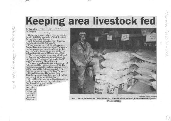 Keeping area livestock fed