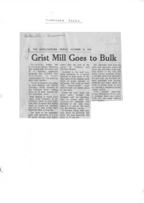 Grist Mill Goes to Bulk