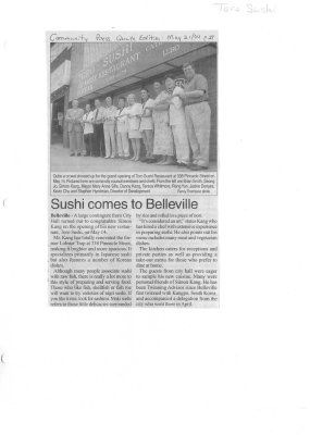 Sushi comes to Belleville
