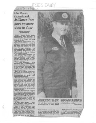 After 32 years it's inside work: Milkman Tom goes no more door to door