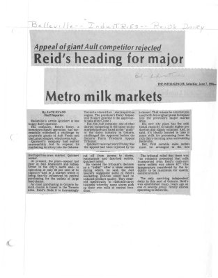 Reid's heading for major Metro milk markets
