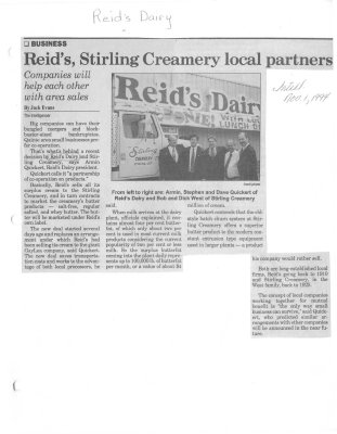 Reid's, Stirling Creamery local partners