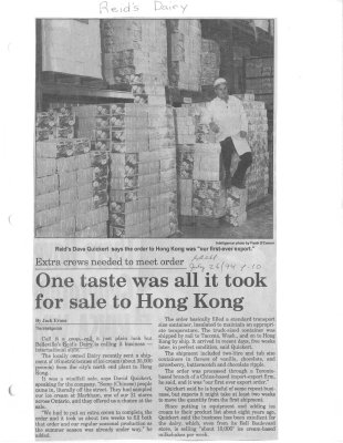 One taste was all it ook for sale to Hong Kong